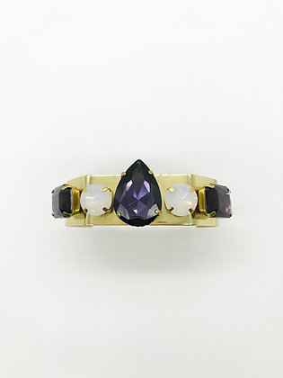 Purple/Faux Opal Cuff