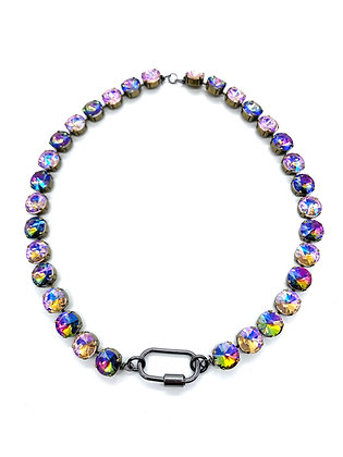 Rainbow and Pink Iridescent Layer Necklace