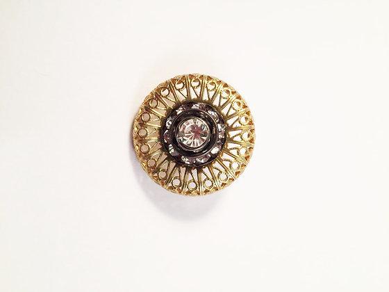 Round Rhinestone Pin