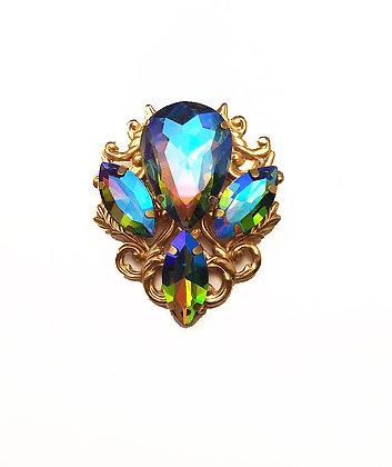 Rainbow Iridescent Brooch