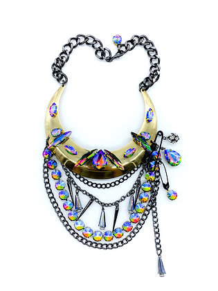 Rainbow Bib Necklace