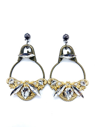Large Safety Pin Earrings