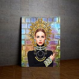 Vauje home decor wall art  black art jewelry glitter  colorful rainbow girly art holograph