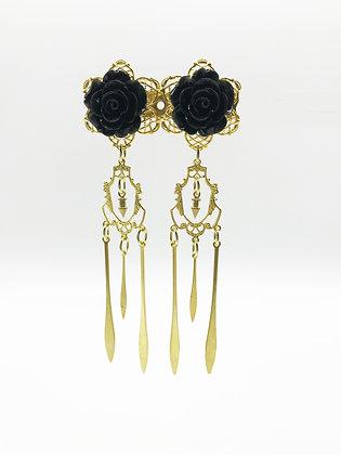 Back Rose Dangle Earrings 2668