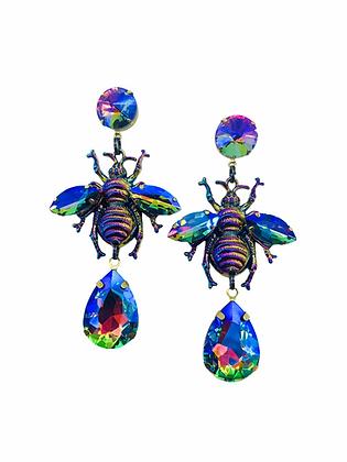 Queen Bee Rainbow Iridescent Earrings