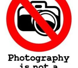 LA FOTOGRAFIA NON E' UN CRIMINE.