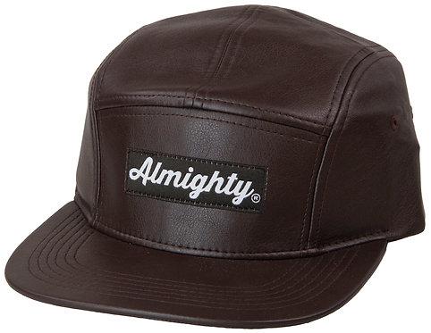 Leather Camp Cap
