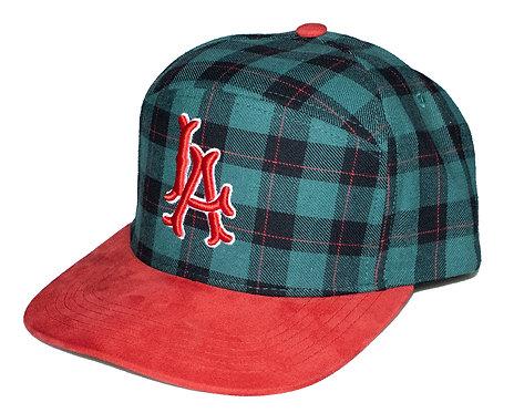 Plaid LA 6 Panel Hat