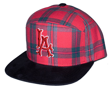 Plaid LA 6 Panel Hat