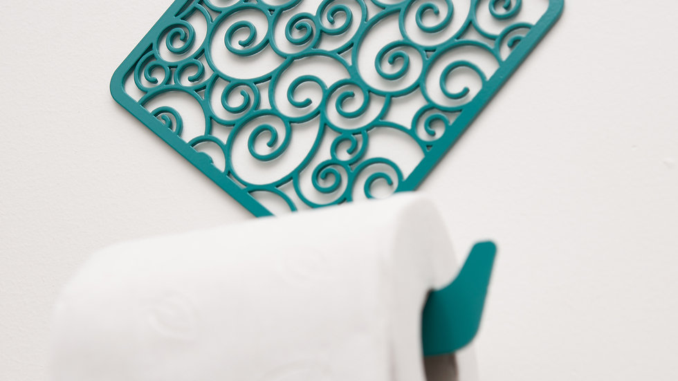 Toilet paper holder-waves