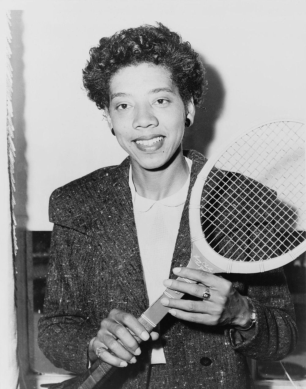 FIRST BLACK FEMALE TO CROSS THE COLOR LINE OF INTERNATIONAL TENNIS