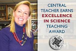 Kacia Cain receives Iowa STEM Teacher of the Year Award