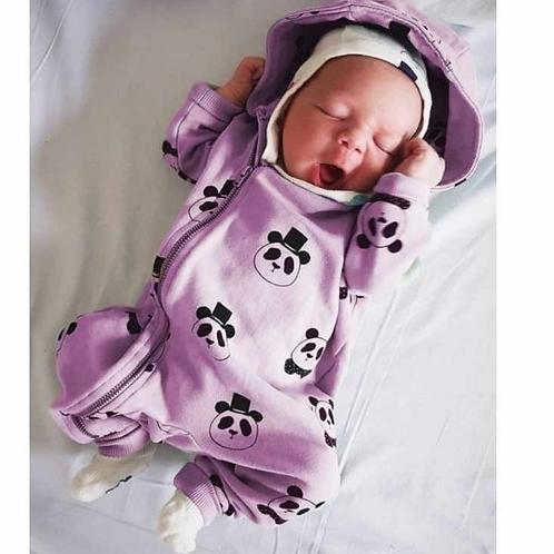 Mameluco Panda Para Bebé Babynova Ml 1