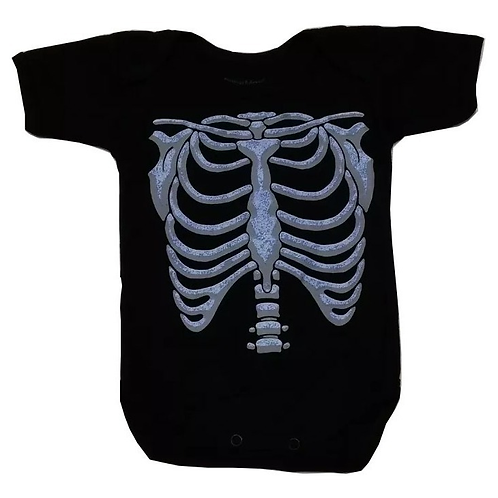 Pañalero Unisex Bebe Día De Muertos Esqueleto Fluorescente