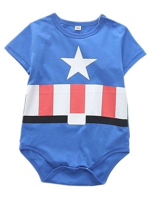Pañalero Capitan America Bebe Superheroes Unisex Babynova