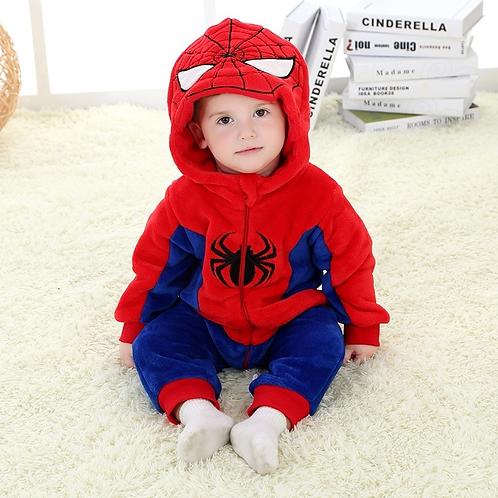 Kigurumi Spiderman Bebé Mameluco Spiderman Babynova Cl
