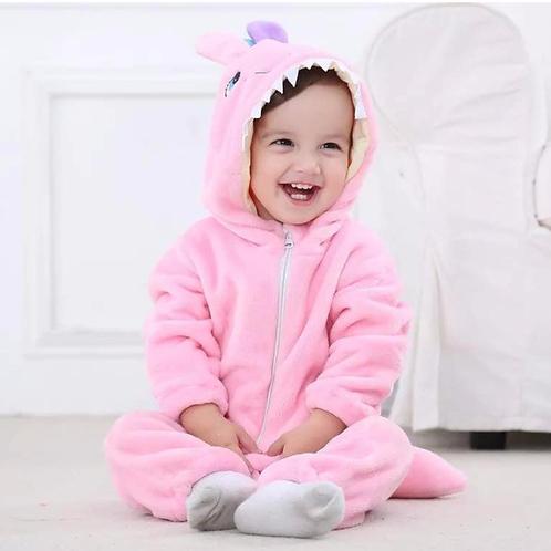 Kigurumi Onesi Mameluco Para Bebé Monstruo Rosa Babynova