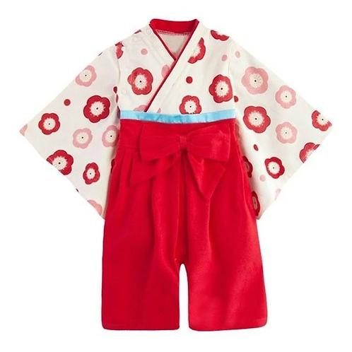 Mameluco Kimono Para Bebe Niña Vestido Japones Babynova