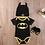 Thumbnail: Pañalero Disfraz Batman Para Bebe Gorro Y Zapatos Babynova