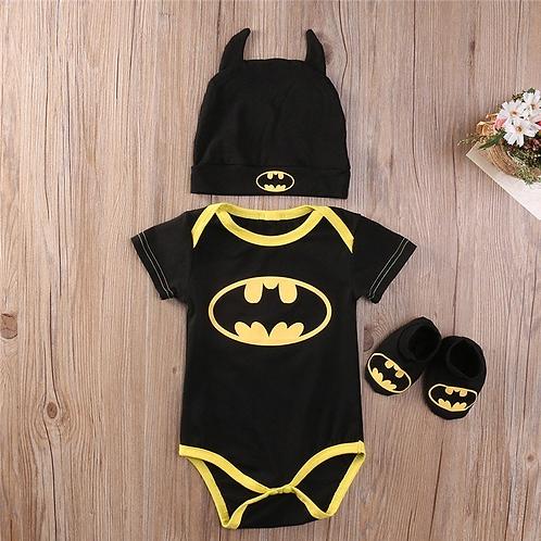 Pañalero Disfraz Batman Para Bebe Gorro Y Zapatos Babynova