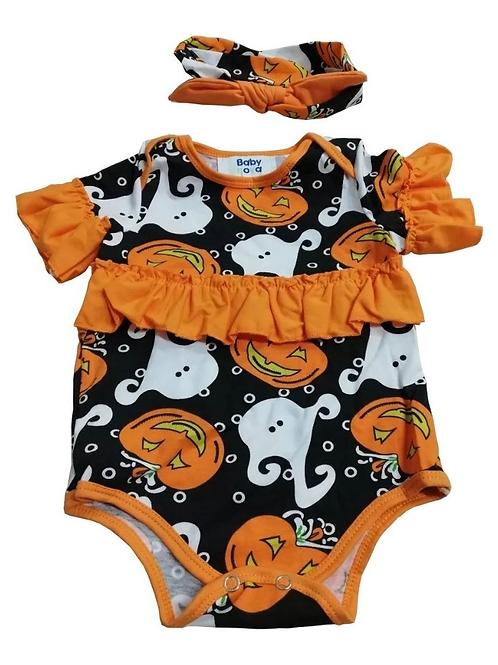 Pañalero Para Niña Bebe Calabazas De Halloween Babynova P3