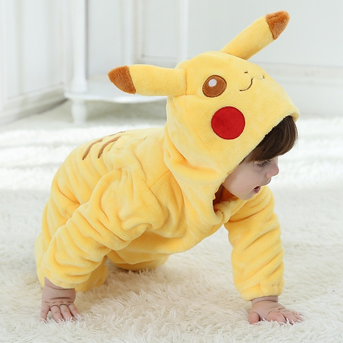 Mameluco Pokemon Pikachu Pijama Mameluco Babynova :)