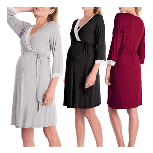 Pijama Para Embarazada Algodon Breastfeeding Babynova Pj 4