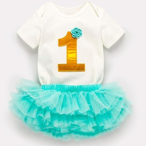 Disfraz Tutu Pañalero De Cumpleaños 1 Y 2 Años Baby Nova