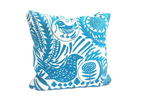 Bird Embroidered Pillow