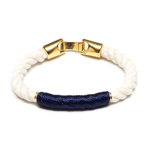 Beacon Bracelet -Ivory/Navy/Gold