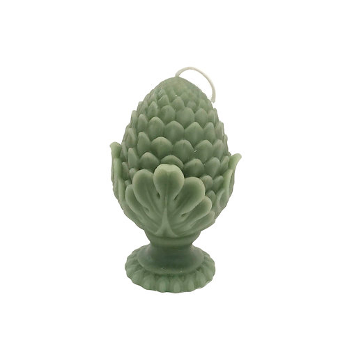 Garden Finial Candle in Dusty Miller