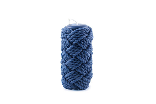 Knotty Pillar Candle - Ultramarine