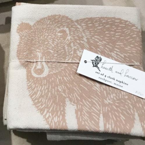 Nature Napkins - Mocha Bear