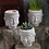multiple buddha head candle holder or planter