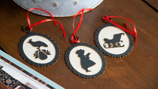 Cameo Silhouette Ornaments