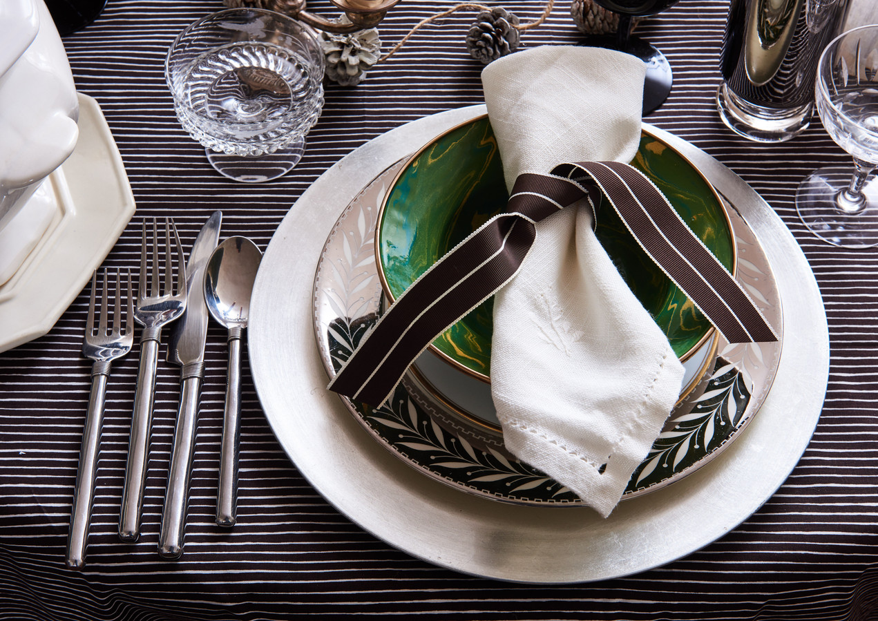 Chocolate Brown Tablescape