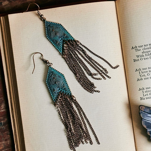 Boho Deco Chain Earrings