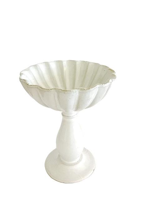Terra Cotta Fluted Pedestal Bowl