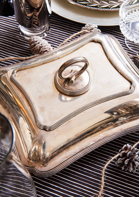 Antique Silver Covered Dish