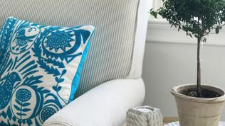 Embroidered Bird Pillow