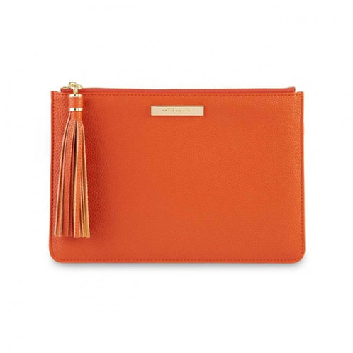 Sophia Tassel Pouch - Burnt Orange