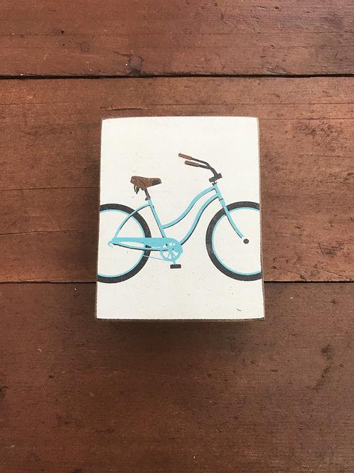 Painted Rustic Block - Bicycle