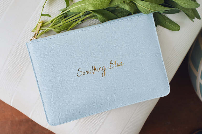 Something Blue Bridal Clutch