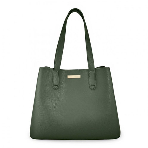 Katie Loxton Riley Double Shoulder Bag - Khaki