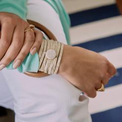 Leather Druzy Bracelet