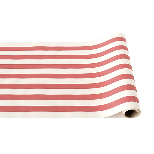 Red and White Stripe Table Runner