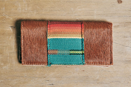 Serape Hide Hair Wallet