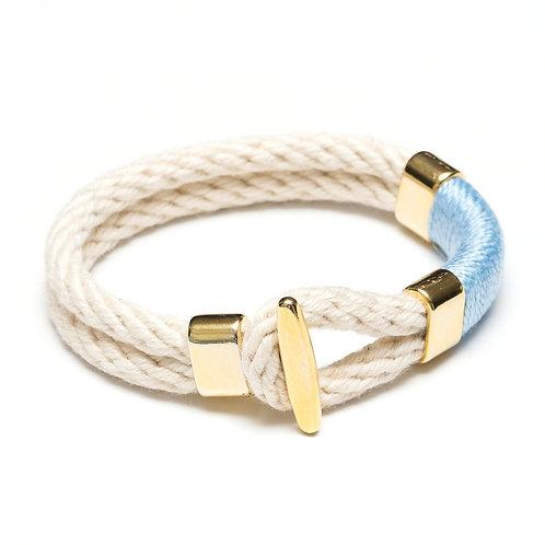 Cambridge Bracelet - Ivory/Light Blue
