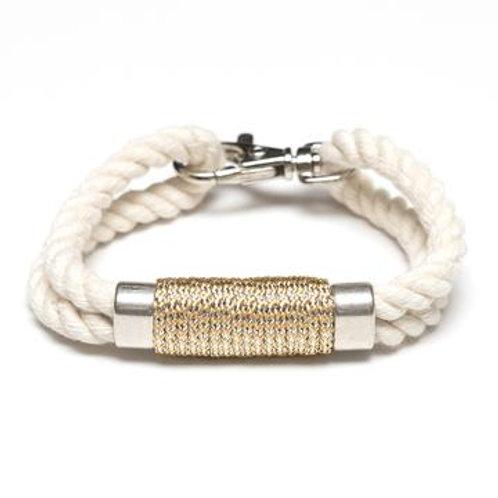 Tremont Bracelet -Ivory/Metallic Gold/Silver