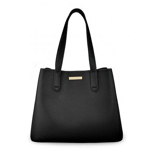 Riley Double Shoulder Bag - Black